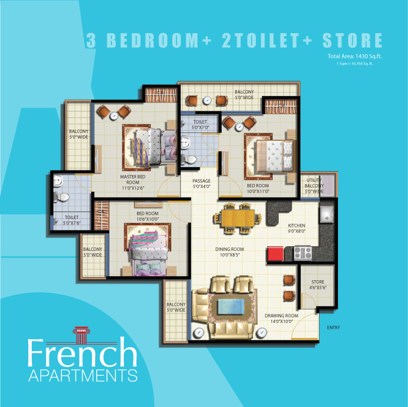 Anthem french apartment noida extension anthem french for French floor plans