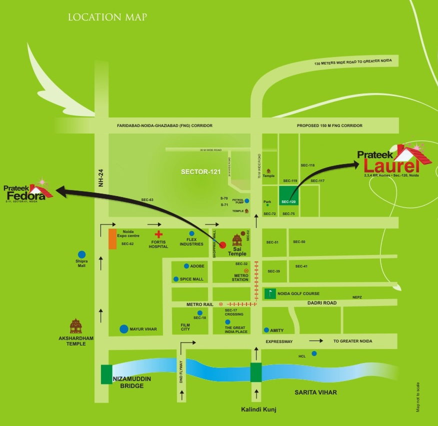 Sitemap List: Prateek Laurel, Noida Floor Plan